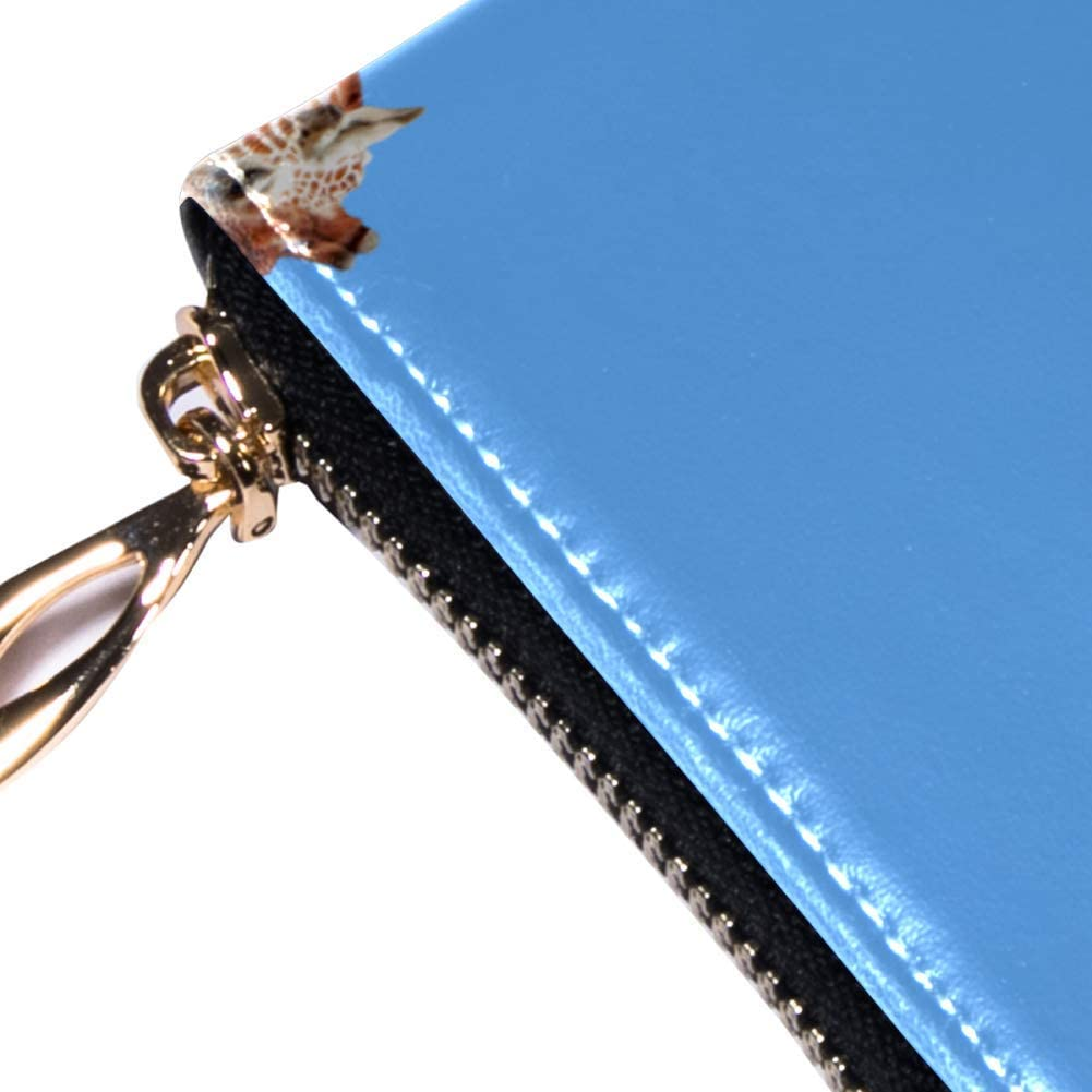 Womens Zip Around Wallet and Phone Clutch,Animals Giraffe Print,Travel Purse Leather Clutch Bag Card Holder Organizer Wristlets Wallets