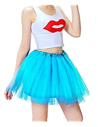 Women's 3 Layers Ballet Dress-Up Fairy Tutu Skirt For Dance Party 12 Colors Available