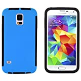Galaxy S5 Case - Heavy Duty Box Cover for Samsung Galaxy S5 /S5 Neo, Integrated Screen Protector Included (Blue)