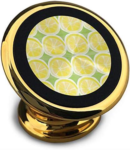 レモンドロップパターン 携帯電話ホルダー おしゃれ 車載ホルダー 人気 磁気ホルダー 大きな吸引力 サポートフレーム 落下防止 360度回転