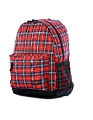 """Olympia Bravo 17.5"""" Backpack Backpacks,Red Plaid - Red Plaid"""