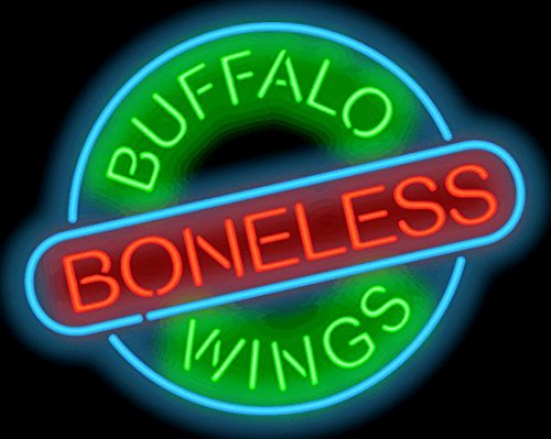 Buffalo Boneless Wings Neon (Boneless Buffalo)