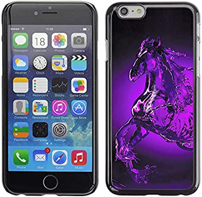 KIKI Tech/duro Smartphone funda - caballo Pegaso misticas de agua púrpura - Apple iPhone 6: Amazon.es: Electrónica