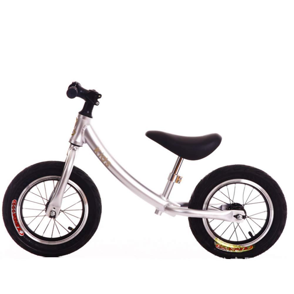 ペダルのないスポーツのバランスのバイクは保護ギヤを含む2-6 歳の子供のための調節可能なハンドルバーそして座席,Blue B07L3P7WZF White White