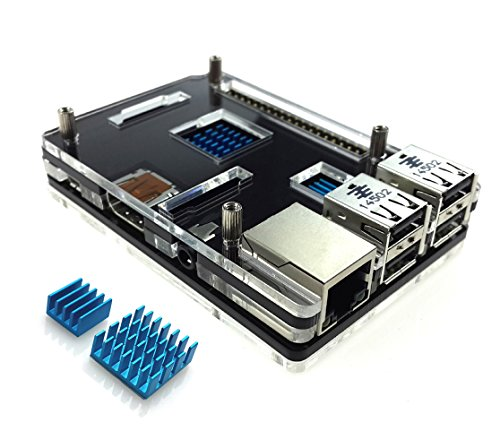 Eleduino Raspberry Pi 3 Model B Acrylic Enclosure Case Black