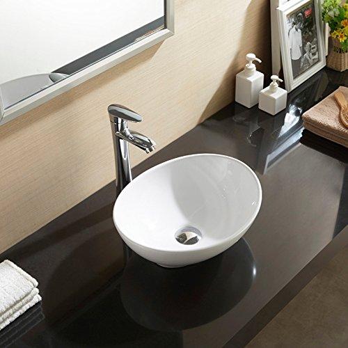 bathroom oval vessel sink vanity