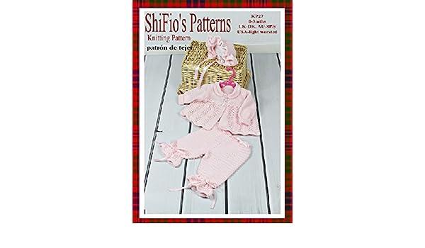patrón para dos agujas - KP27 - chaqueta matinée, pantalones y sombrero para bebé 0 -3 meses (Spanish Edition) - Kindle edition by shifio patterns.