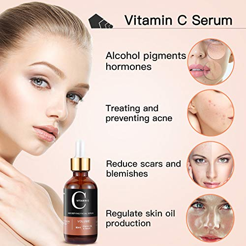 51lAgIjPMfL - MayBeau Vitamin C Serum For Face and Eyes, Set Of 2 Anti-aging Facial Serum(3 fl.oz) With Hyaluronic Acid & Vit E- with Natural Ingredients for Acne Scars, Anti Wrinkle, Anti Aging, Fades Age Spots