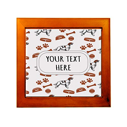 Ceramic Tile in Wood Frame Custom Irish Red and White Setter Dog Pattern E Adults (Irish Red And White Setter For Sale)