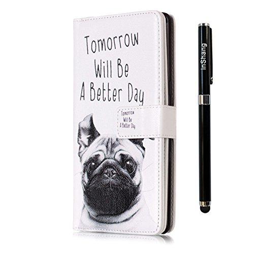 Qualite avec Pens inShang support Galaxy Wallet avec intégré Samsung Note8 Logo housse de Note dog Coque Stylet capacitif Haute case fonction 8 design pour cover qAqwr0xU