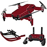MightySkins Skin For DJI Max Coverage - Solid Burgundy | Protective, Durable, and Unique Vinyl Decal wrap cover | Easy To Apply, Remove, and Change Styles | Made in the USA
