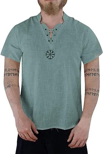 Hombre Camiseta De Manga Corta Escote Redondo Estampado Slim Fit ...