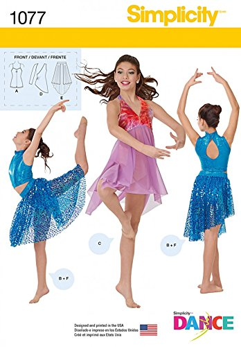 Simplicity Ladies & Girls Sewing Pattern 1077 Dance Costumes: Amazon ...