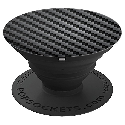 Black Carbon Fiber Weave - PopSockets Grip and Stand for Phones and Tablets