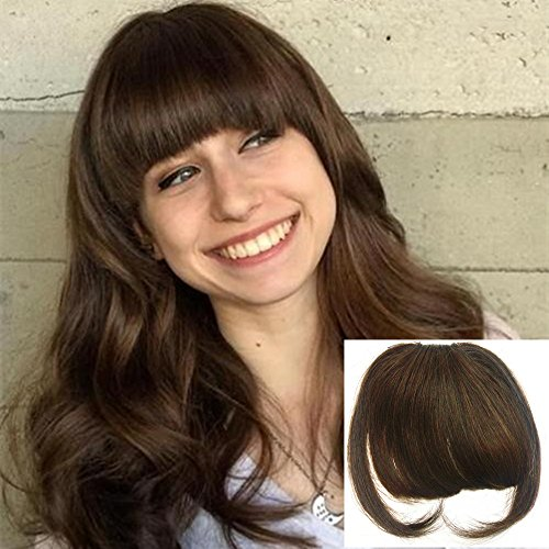 Amazon Com Aosome 100 Real Human Hair Bang Fringe With Temple