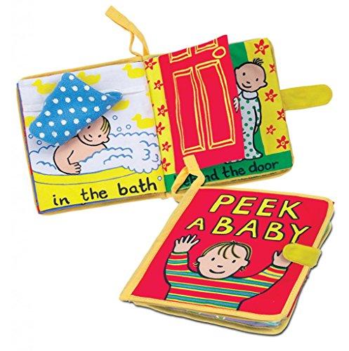 Jellycat Soft Cloth Books, Peek A Baby by Jellycat