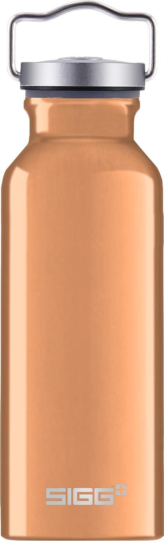 SIGG Original Copper Botella cantimplora (0.5 L), Botella con Tapa Especialmente hermética sin sustancias nocivas, Botella de Aluminio Ligera