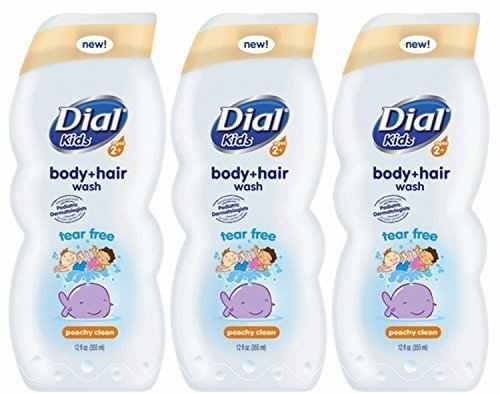 Dial Kids Body + Hair Wash, Peachy Clean, 12 Ounce, (Pack of 3) by Dial