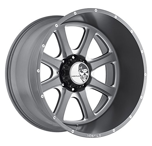 Hostile Exile Anthracite Gray Wheel with Milled Finish - Finish Anthracite
