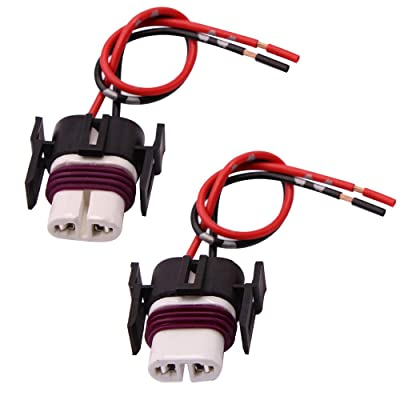 GZXY H11 H8 880 881 High Temperature Ceramic Wire Harness Socket Female Adapter for Headlight Fog Light 2 pcs: Automotive