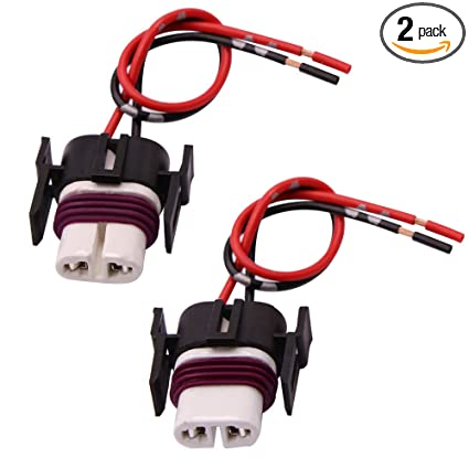 amazon com: gzxy h11 h8 880 881 high temperature ceramic wire harness socket  female adapter for headlight fog light 2 pcs: automotive
