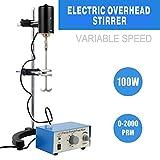 YaeTek Electric Overhead Stirrer Mixer 0-2000 RPM Overhead Stirrer Mixer 100W Overhead Stirrer 0-120 Minutes for Lab Mechanical Mixer