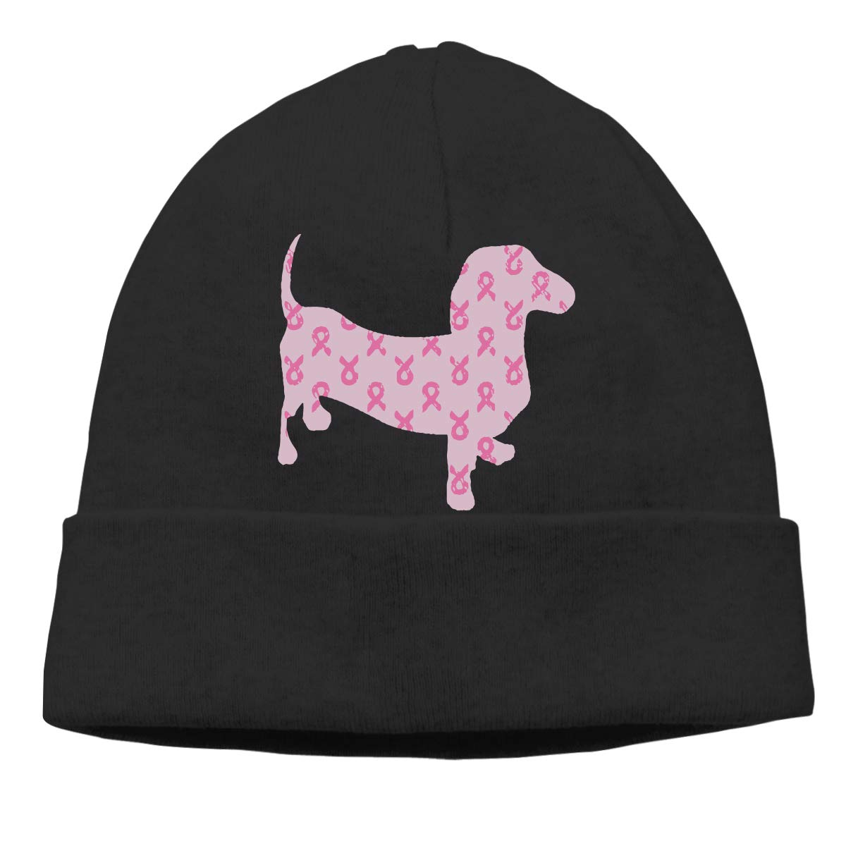 BF5Y3z/&MA Unisex Breast Cancer Awareness Dachshund Knitted Hat Winter Skiing Cap