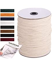 NOANTA Macrame Cord Natural Cotton Macrame Rope Cotton Cord, Perfect Macrame Supplies for Wall Hanging, Plant Hangers, Crafts, Knitting, Decorative Projects