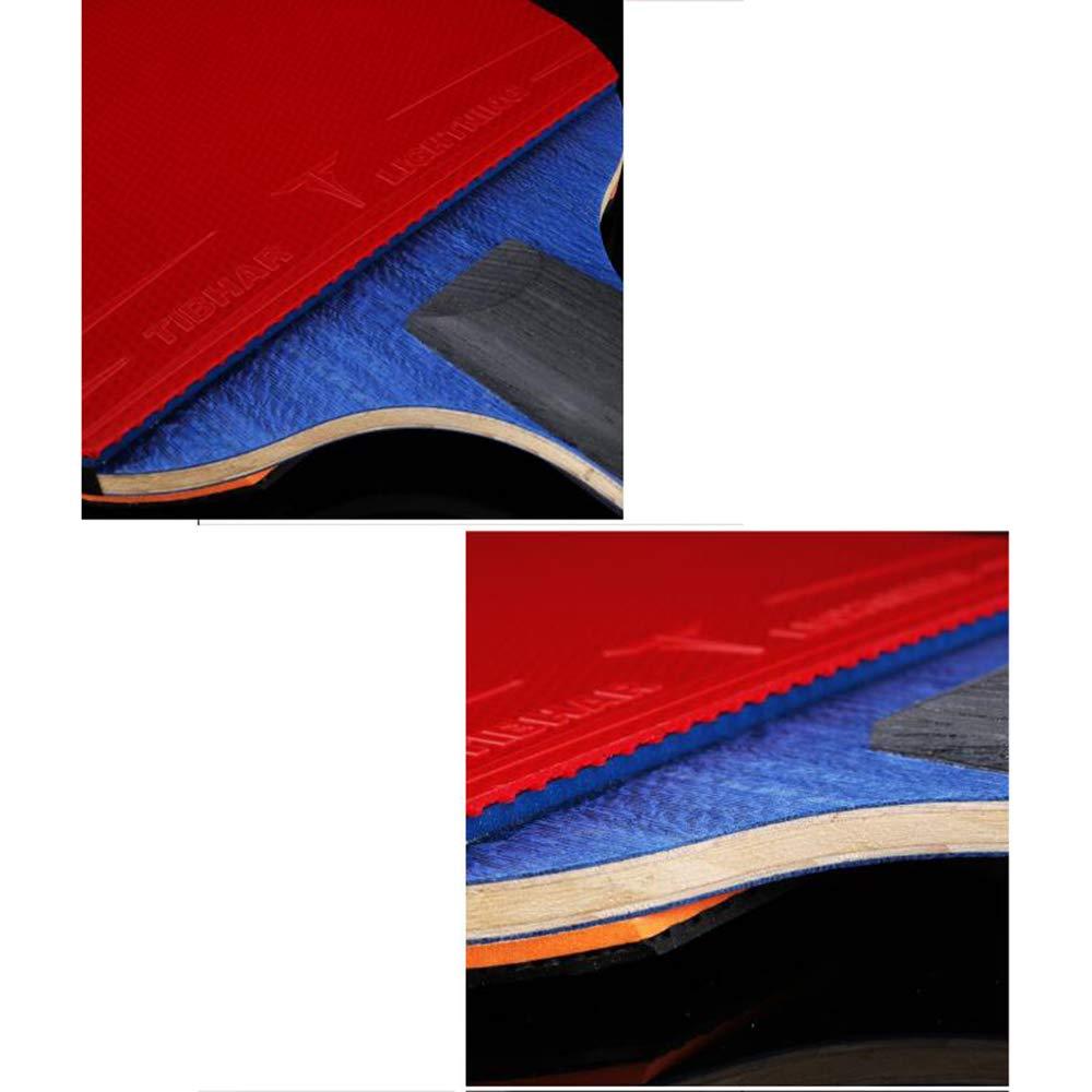 SSHHI Mazza da Ping Pong 9 stelle Resistente allusura//Come mostrato // 15.1/×25.8CM Racchette da Ping Pong Impugnatura Antiscivolo Velocit/à e Rotazione Eccellenti