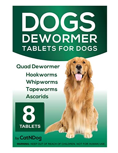 CatNDog Quad Dewormer for Dogs, Medicine Pills Wormer for Large and Puppy 8 -