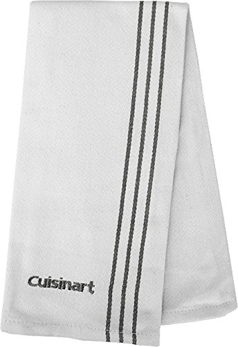 Cuisinart Cotton Chef's Towel with Embroidery, 16'' x 18'', Steel by Cuisinart