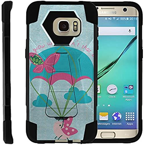 Samsung Galaxy S7 Edge, Full Body Fusion SHOCK Impact Kickstand Case with Exclusive Illustrations by Miniturtle - Ladybug Parachute Sales