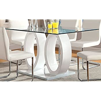 pedestal dining table base only this item furniture glass top double white black round and chairs plans