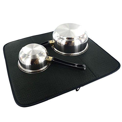 OYATEK Microfiber Dish Drying Mat for Kitchen 16 by 18-Inch,