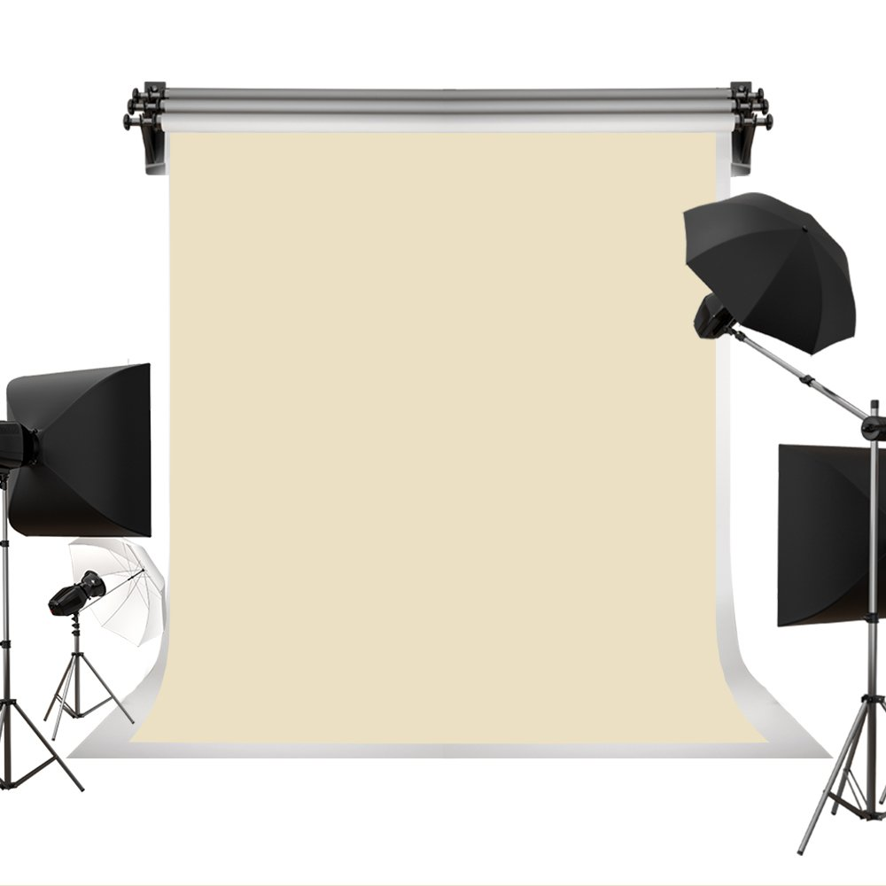 Kate Photo Backdrops Photographers Retro Solid Light Yellow Background Photography Props Studio Digital Printed Backdrop 8x8ft(2.5x2.5m)