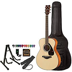 yamaha fs800 acoustic electric guitar with gig bag accessories musical instruments. Black Bedroom Furniture Sets. Home Design Ideas