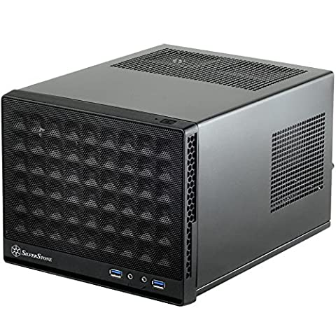 Silverstone Computer Case with Mesh Front Panel,Black (SG13B) (Thermaltake Core V21)