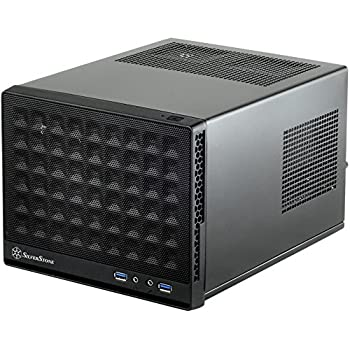 Silverstone Computer Case with Mesh Front Panel,Black (SG13B)