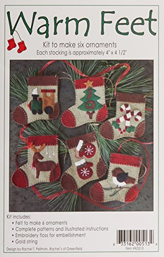 Rachel's Of Greenfield Warm Feet Ornament Kit-4