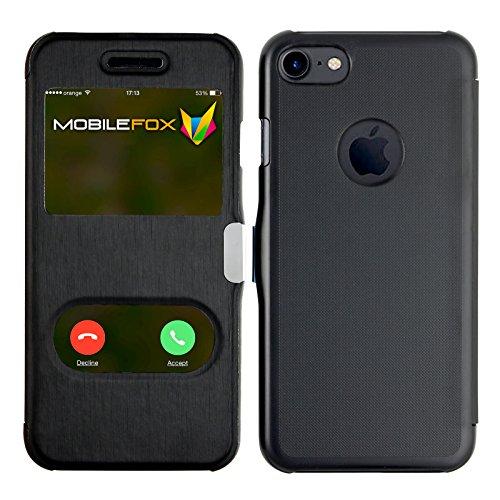 Mobilefox James Schutzhülle Flip Touch Cover Apple iPhone 7 Schwarz
