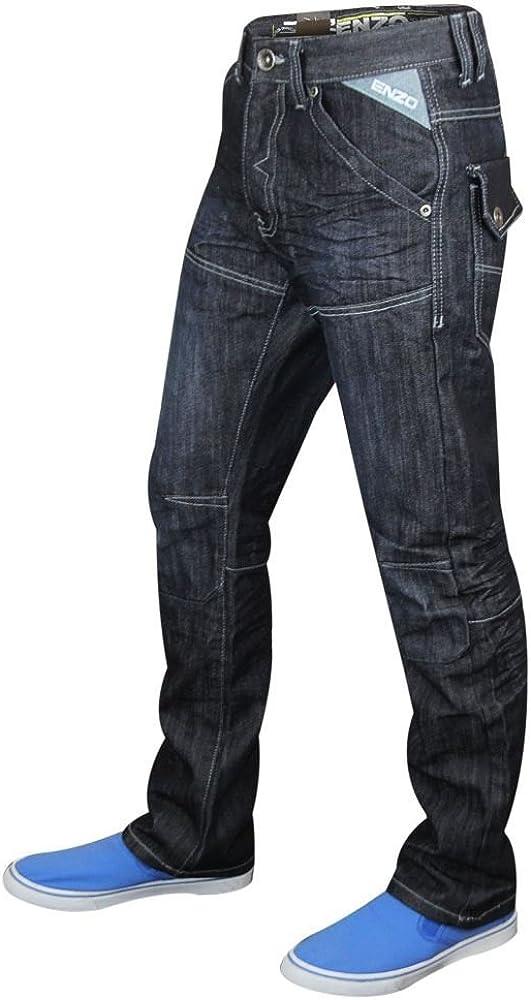 TALLA 3XL. Enzo-Pantalón vaquero recto para hombre, tamaño de la cintura 28 a 48 cm