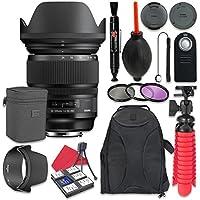 Sigma 24-105mm f/4 DG OS HSM Art Lens for Nikon + Accessory Bundle