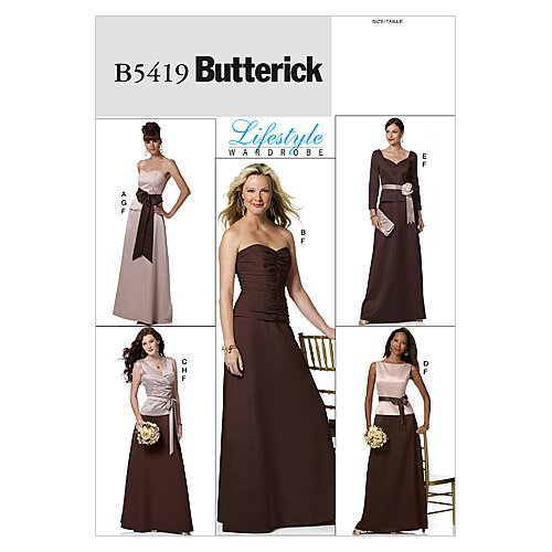 BUTTERICK PATTERNS B5419 Misses' Top, Skirt and Sash, Size BB (8-10-12-14) ()