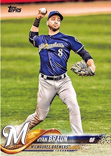 Milwaukee Brewers Ryan Braun (2018 Topps #180 Ryan Braun Milwaukee Brewers Baseball Card)