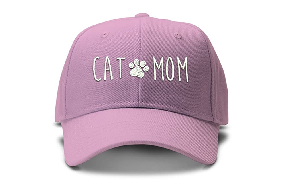 d740475dab8 Amazon.com  The Turnipseed Co Cat Mom with Paw Print Baseball Cap Low  Profile Dad Hat Cap  Clothing