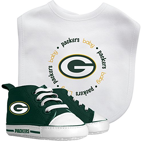 Baby Fanatic Green Bay Packers Bib and Prewalker Set