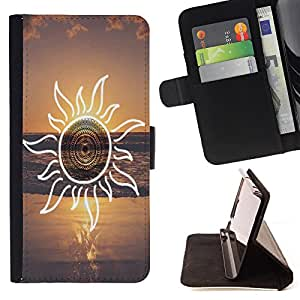 - Summer Story - - Style PU Leather Case Wallet Flip Stand Flap Closure Cover FOR Samsung Galaxy S3 III I9300 - Devil Case -