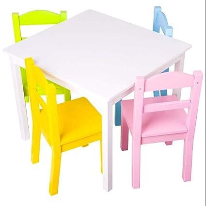 Marvelous Amazon Com Gt Kids Playroom Table Set Of Five Activity Short Links Chair Design For Home Short Linksinfo