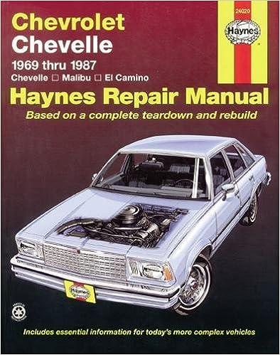 chevrolet chevelle 69 87 haynes repair manuals haynes