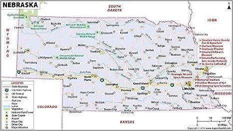 Amazon.com : Nebraska Map (36\